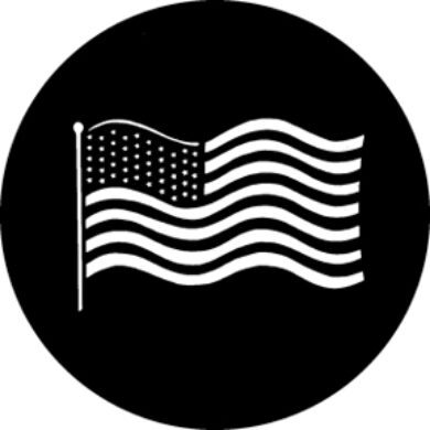 gobo 77122 - Waving US Flag  (77122)