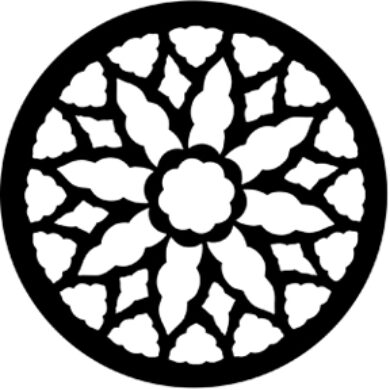gobo 77145 - Rose Window 2  (77145)