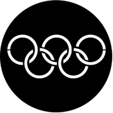 gobo 77437 - Olympic Rings  (77437)