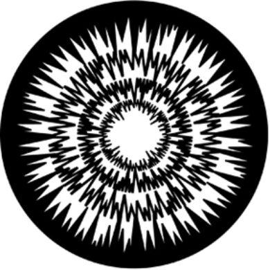 gobo 77616 - Jagged Circlas(77616)