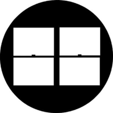 gobo 78256 - Double Hung 2x2(78256)