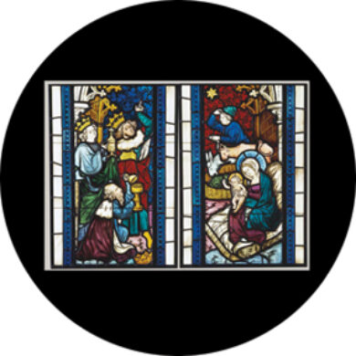 gobo 86674 - Nativity Stained Glass  (86674)