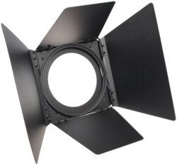 S4 Fresnel Barndoor EU, Short, Black-Klapka pro svítidla ETC S4 Fresnel, černá barva, rozměr 189x189mm
