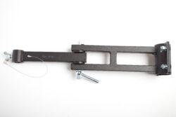 Sestava kl.ramen na trubku 57mm a na zeď,bez závěsného prvku,d-600mm-typ 0130101+0130104 , jako závěsný prvek lze požít typ 0130106,0130107,0130108.