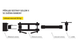 Center arm 250 GOLEM II  (0130202)
