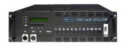 TSX rack 12x 1,2kW - 12x zásuvka 230V/16A-Stmívací jednotky v 19'' provedení splňující současné nároky na funkci stmívacích zařízení i nejnovější technické normy. Moderní plně digitální řídící jednotka TSC 12 řízená dvěma procesory zajišťuje maximální komfort a jednoduchost obsluhy a zároveň umožňuje přístup k množství nastavitelných parametrů. Na displeji řídící jednotky je zobrazována aktuální výstupní hodnota všech kanálů, napětí jednotlivých fází a teplota celého systému. TSC 12 umožňuje např. výběr z 11 přednastavených křivek, přiřazení jakékoliv DMX adresy kterémukoliv stmívači (PATCH), nastavení teploty, která bude nadále udržována, blokování jednotky heslem apod. Určení pro zájezdové účely i pevné instalace pro malé divadelní scény, kluby, víceúčelová kulturní zařízení, TV studia.