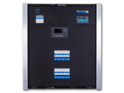 TSX 12 wallsystem - 12x1,2kW - The dimming equipment TSX 12 enables connecting of twelve circuits with the load of 1.2 kW or 2.3 kW per circuit. The fully digital control unit enables user setting of many functions. The unit is intended for fixed installation in theatres, community centers, TV studios etc.