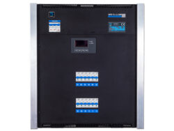 TSX 12 wallsystem - 12x2,3kW - The dimming equipment TSX 12 enables connecting of twelve circuits with the load of 1.2 kW or 2.3 kW per circuit. The fully digital control unit enables user setting of many functions. The unit is intended for fixed installation in theatres, community centers, TV studios etc.