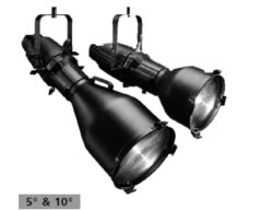Source Four 10°,Black - Halogen fixture by ETC.