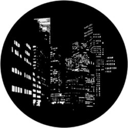 gobo 71012 - City Nightscape - Metal GOBO with pattern.