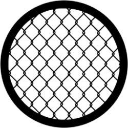 gobo 71060 - Wire Fence-Ocelové  Gobo se vzorem.