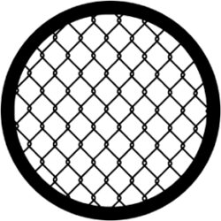 gobo 71060 - Wire Fence - Metal GOBO with pattern.
