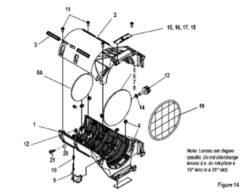 50° LED specific EDLT Lens Tube, Black(7460A2008)