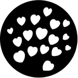 gobo 77093 - Hearts-Metal GOBO with pattern.