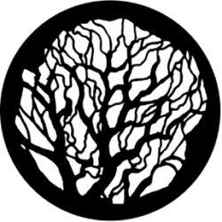 gobo 77100 - Tree 2-Ocelové  Gobo se vzorem.