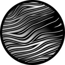 gobo 81118 - Swagger-Glass GOBO with pattern.