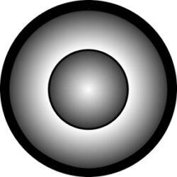 gobo 81119 - Cone Tone-Skleněné Gobo se vzorem.