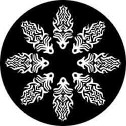 gobo 81124 - Fire Circle-Skleněné Gobo se vzorem.