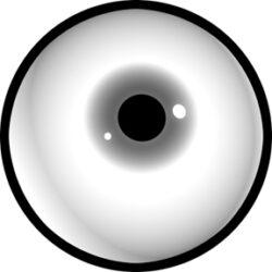 gobo 81125 - Pupil-Skleněné Gobo se vzorem.