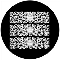 gobo 81170 - Lacquer Relief - Glass GOBO with pattern.
