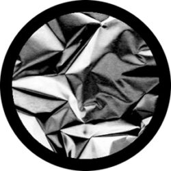gobo 82728 - Foil Scrunch-Glass GOBO with pattern.