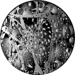 gobo 82744 - Galaxy 1-Glass GOBO with pattern.