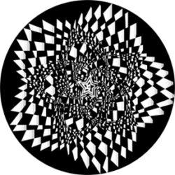 gobo 82762 - Star Spasm 2-Glass GOBO with pattern.