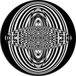 gobo 82763 - Circulate-Glass GOBO with pattern.