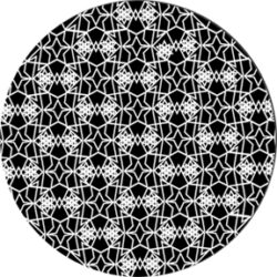 gobo 82774 - Lacy Star-Glass GOBO with pattern.