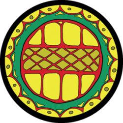 gobo 86612 - Africa-Skleněné Gobo se vzorem.