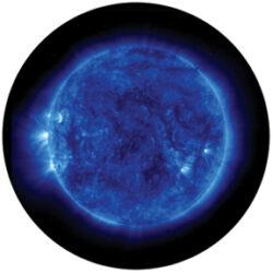 gobo 86671 - Blue Corona-Skleněné Gobo se vzorem.