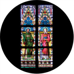 gobo 86672 - Liturgical Stained Glass - Glass GOBO with pattern.