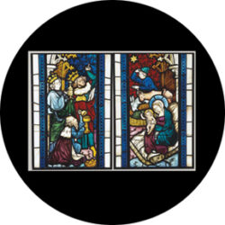 gobo 86674 - Nativity Stained Glass - Glass GOBO with pattern.