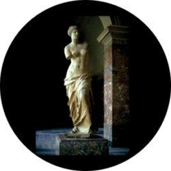 gobo 86678 - Venus de Milo-Skleněné Gobo se vzorem.