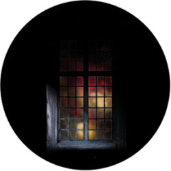 gobo 86689 - Firelight Window-Glass GOBO with pattern.