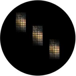 gobo 86692 - Tri Windows-Glass GOBO with pattern.